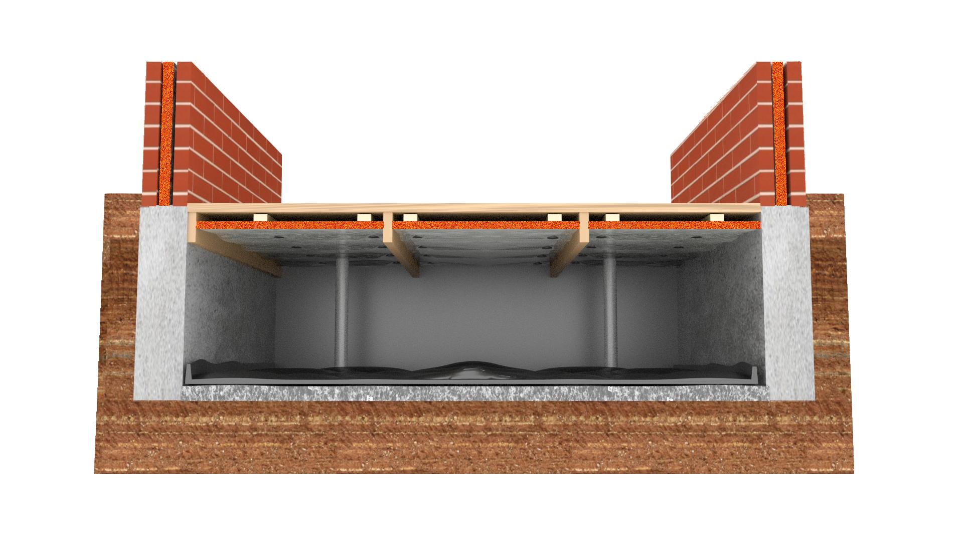houten vloer met bodemfolie bewerkt transparent